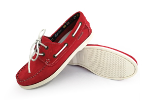 Marina - Red Boat Shoes (Woman)