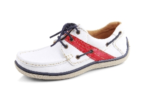 Tomyboat - Soft white/red Boat Shoe (Man)