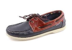 Clipper - Navy /brown Boat Shoe (Man)