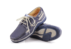 Sunport - Cr. navy Boat Shoe (Man)