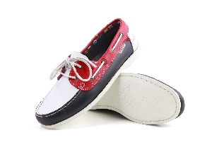 Clipper - Tx navy/white/Red Boat Shoe (Man)
