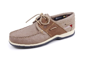 Burton - Grey/tan Boat Shoe (Man)