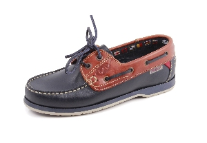 Basic - Tx navy/brown Boat Shoes (Woman)