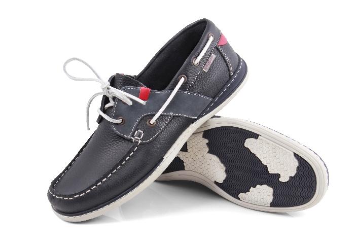 Falkland - Soft navy jeans vitorlás cipő (Férfi) 553201f298