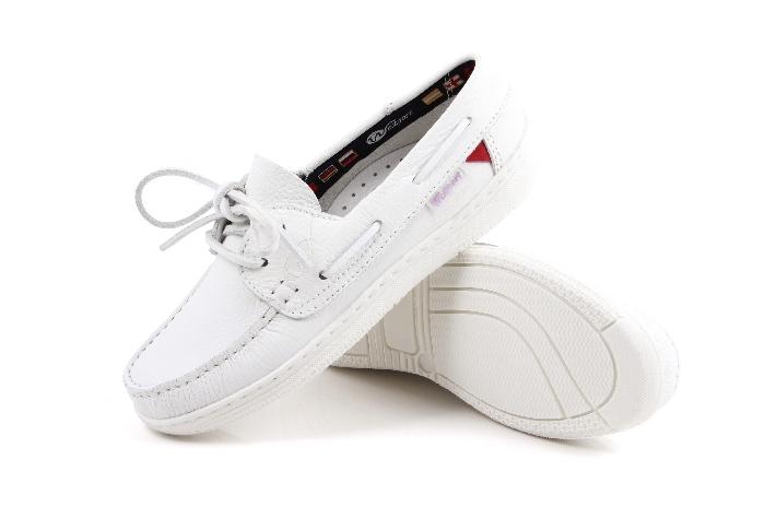 Cagliari -White Boat Shoes (Woman